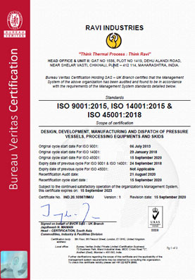 ISO 9001:2008 and BS OHSAS 18001:2007 Certification